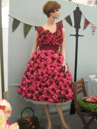 Dress made from Roses