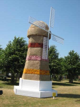 Windmill with dried flowers