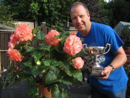 Me with my Begonia and the  Trophy for Best in Floral section