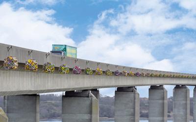 Bridge in Bloom! Orwell crossing gets secret spring makeover