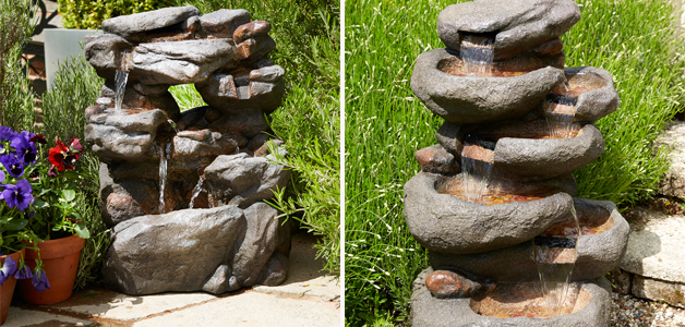 Stone water feature & pebble water featureStone water feature & pebble water feature